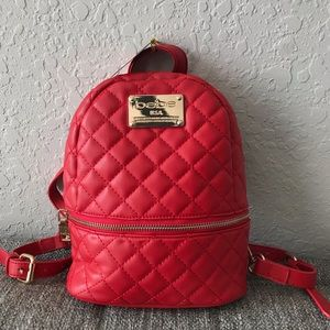 bebe mini red backpack